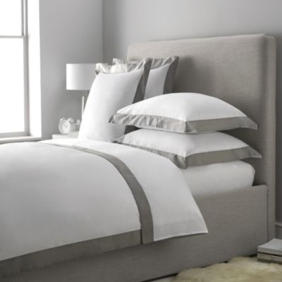 Buy Genoa Bed Linen Sets Soft Slate From The White Company Bed Linens Luxury White Linen Bedding White Bed Set
