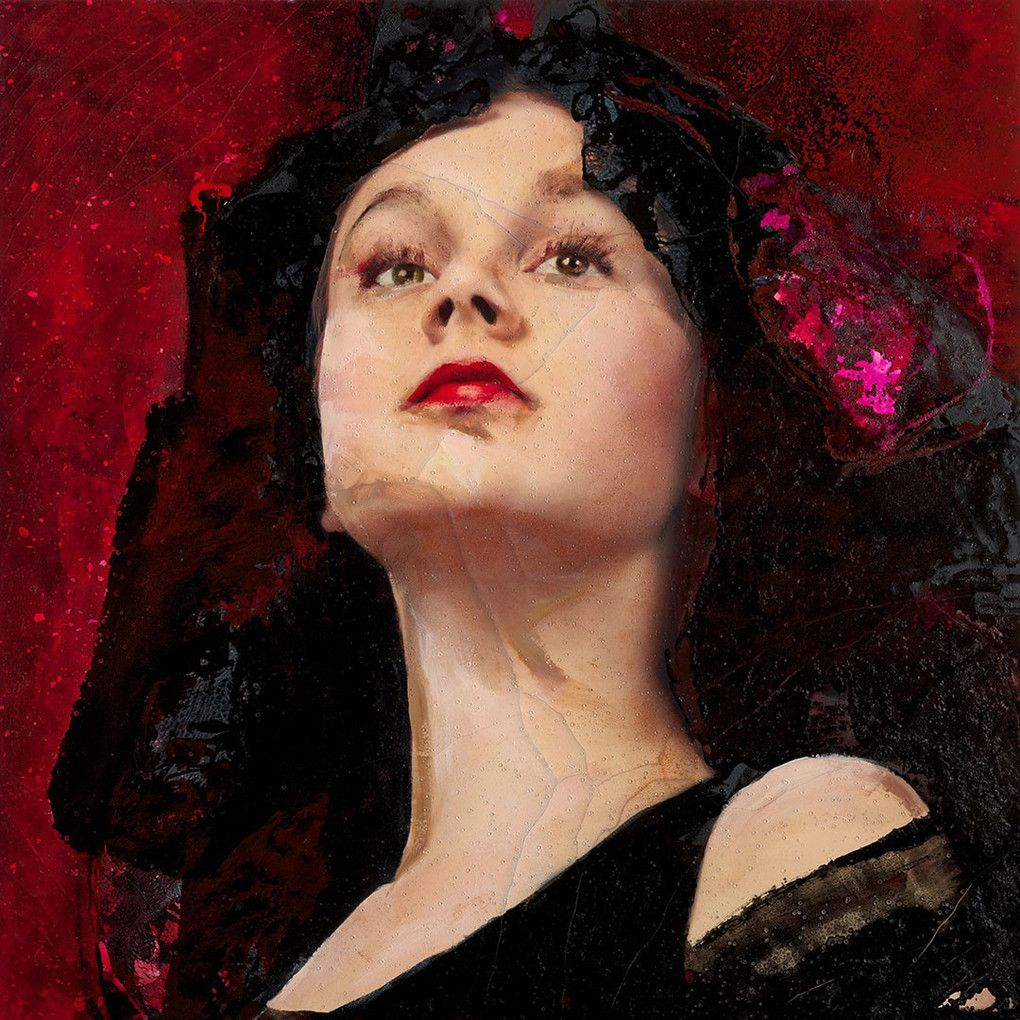 Lita Cabellut. The Black Tulip Arte, Retratos, Modelo de