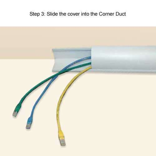 Corner Duct Raceway Disguise Cable Runs As Crown Molding Hide Cables Cable Management Diy Duct