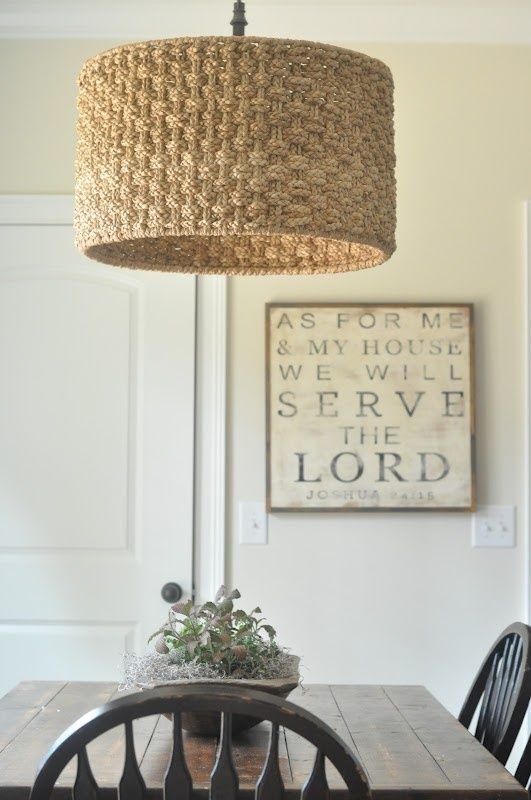 serve the lord print | entryway ideas | Pinterest | Drum shade ...