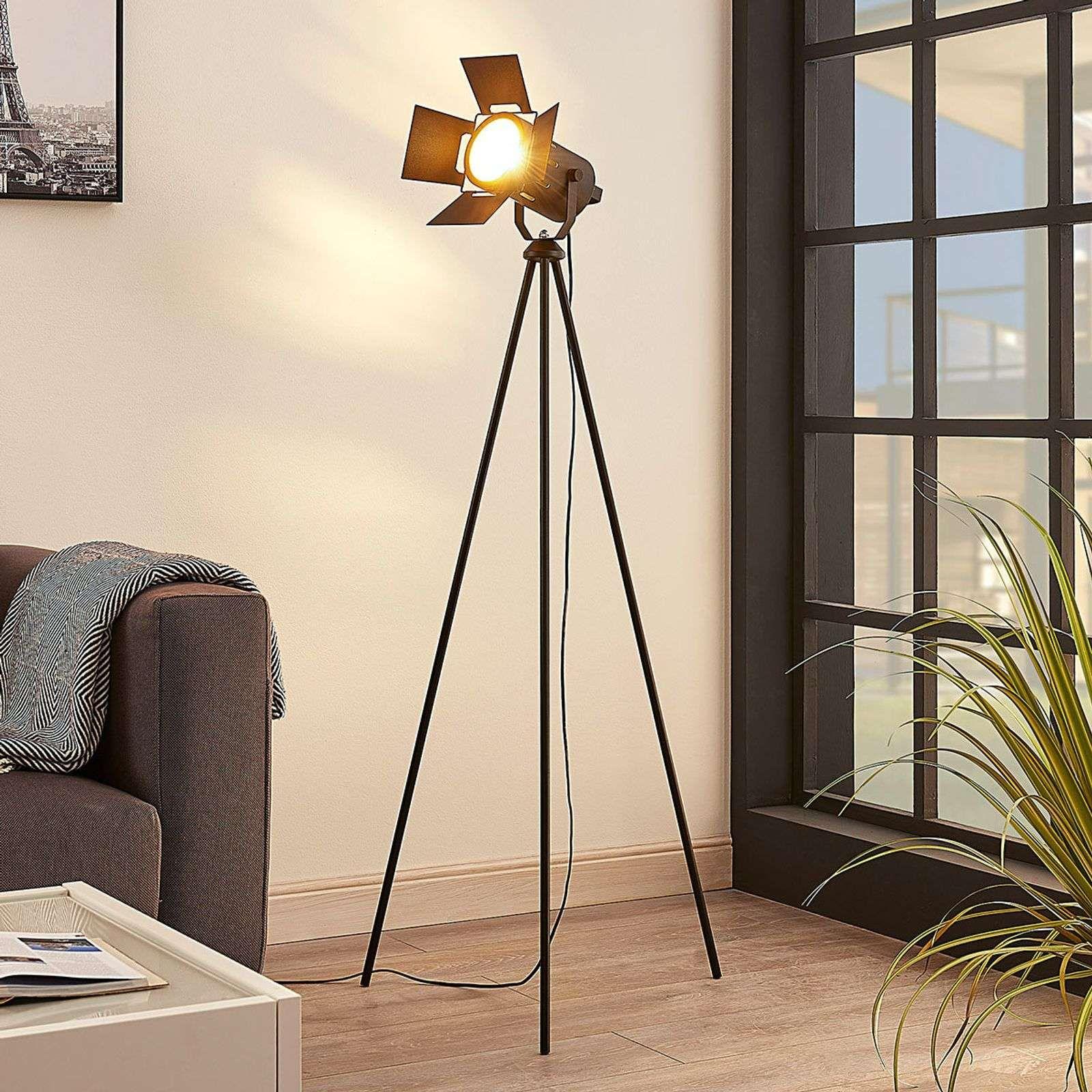 Stehlampe Grau Gunstig Dimmbar Stehleuchte Moderne Stehlampe