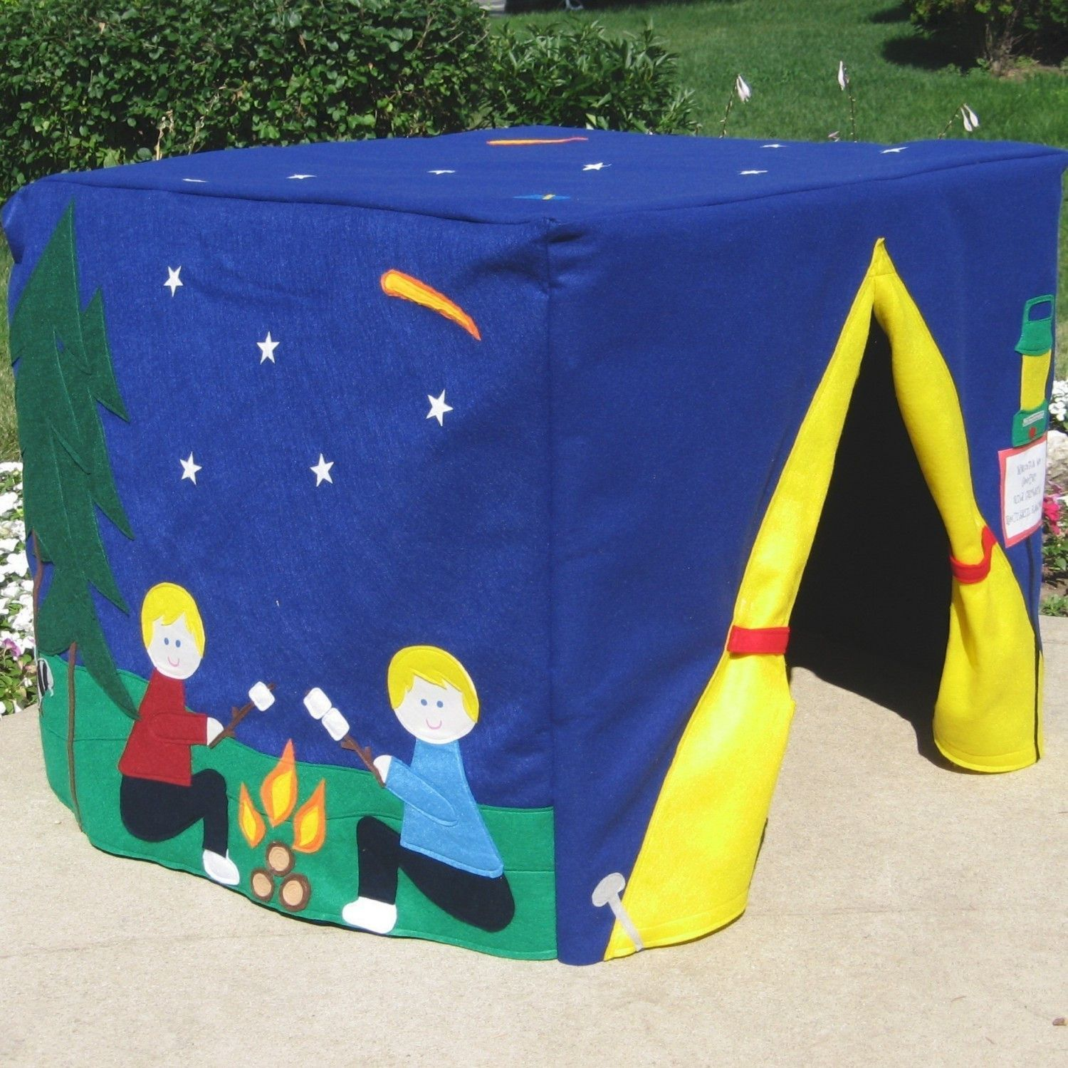 Card table playhouse starry night camp site card table