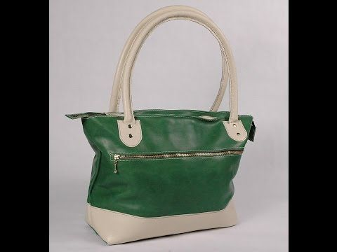 How To Make A Leather Tote Bag Without A Gusset Part 1 - YouTube ... 1afb26895ca33