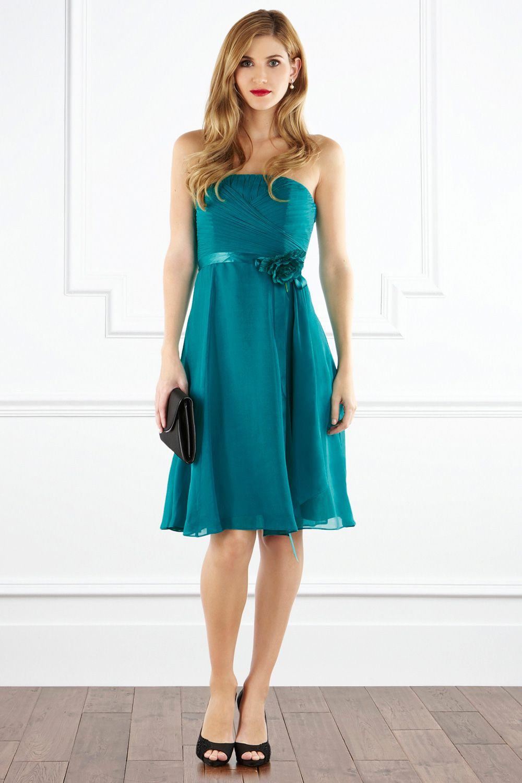 Bridesmaid dress: A beautifully detailed silk chiffon dress, the ...