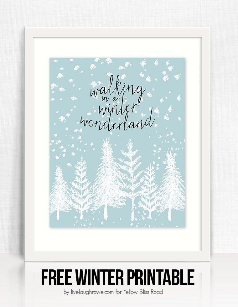 Winter Wonderland Free Printable  Winter Free printable and Free