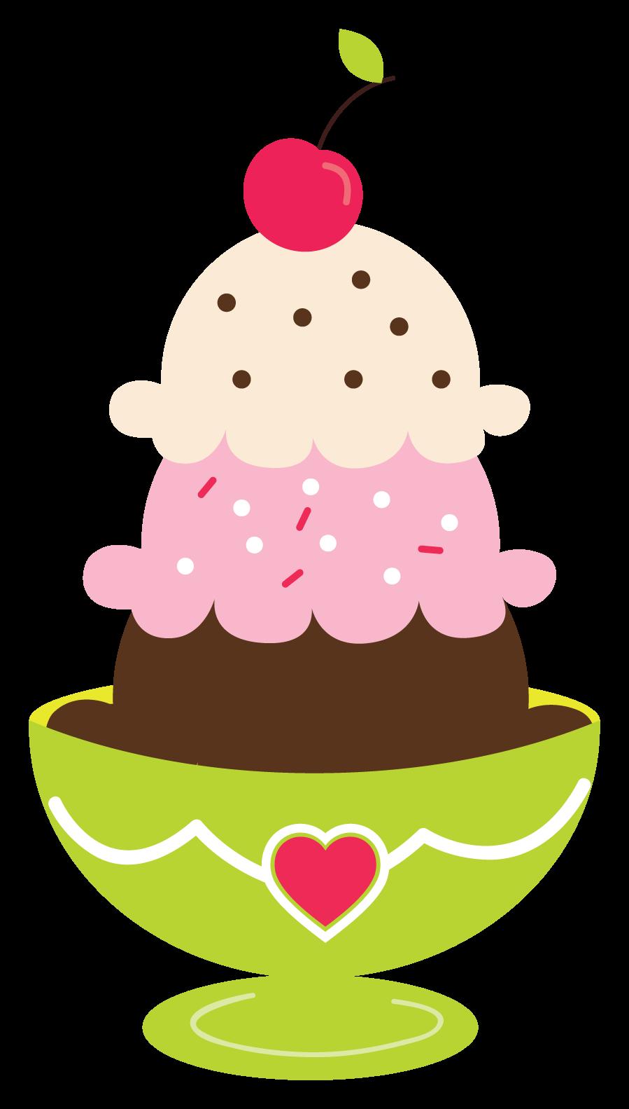 ice cream sundae clipart [ 899 x 1583 Pixel ]