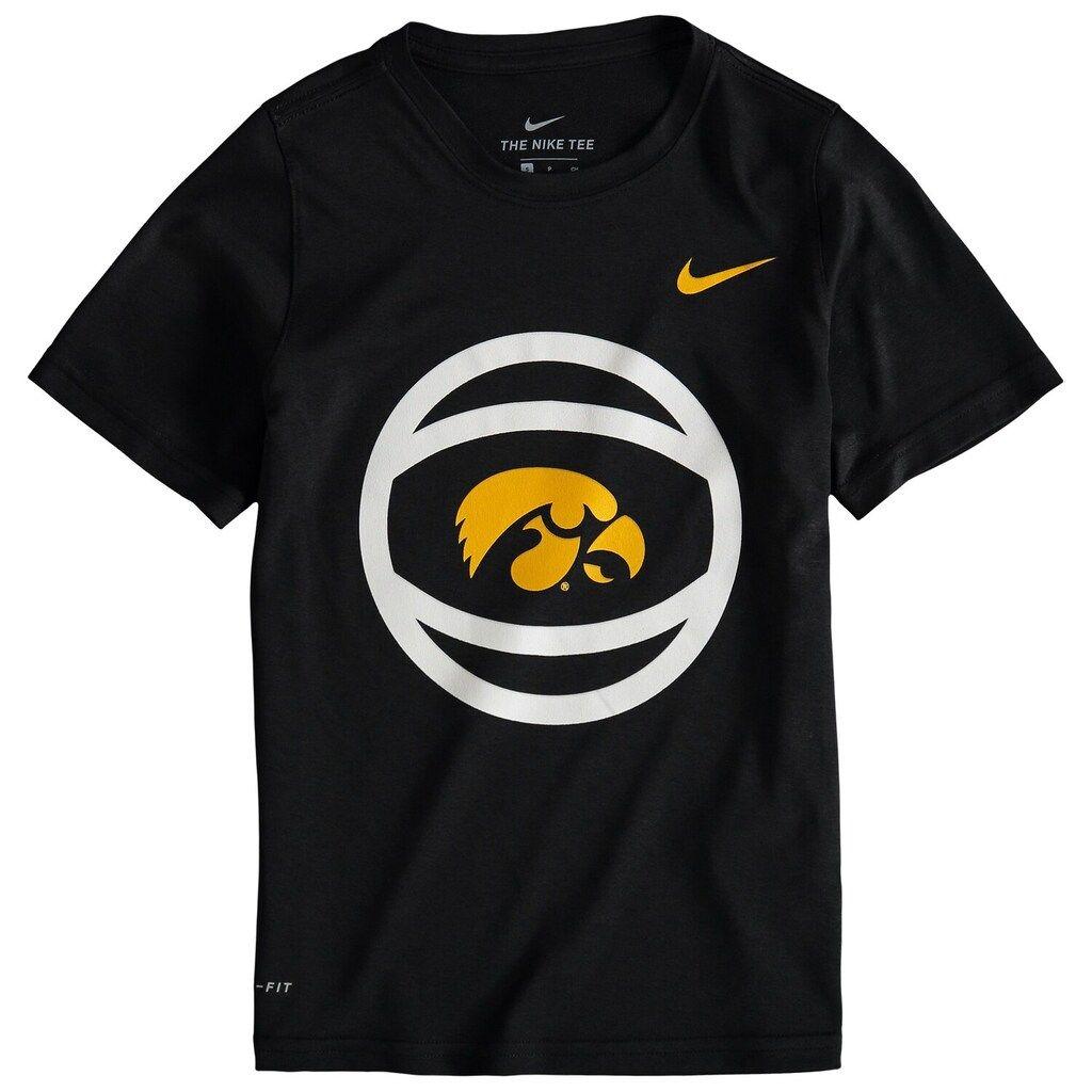 Youth Nike Black Iowa Hawkeyes Basketball And Logo Performance T Shirt Black Nikes Iowa Hawkeye Basketball Youth Basketball [ 1024 x 1024 Pixel ]