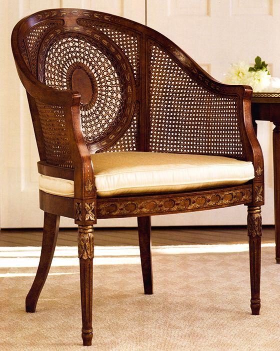 Luxury Italian Furniture Regency Style Armchair With