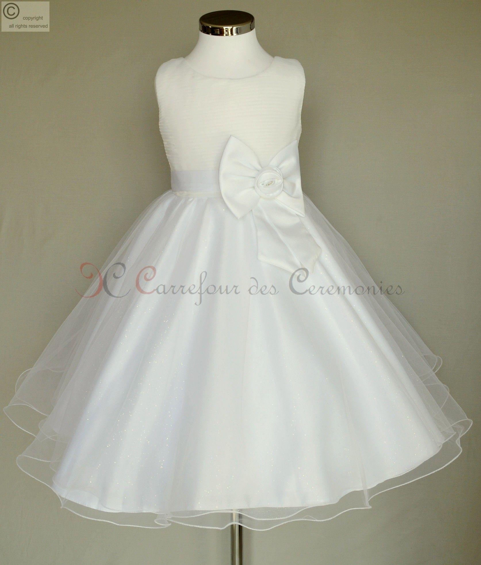 Robe blanche communion