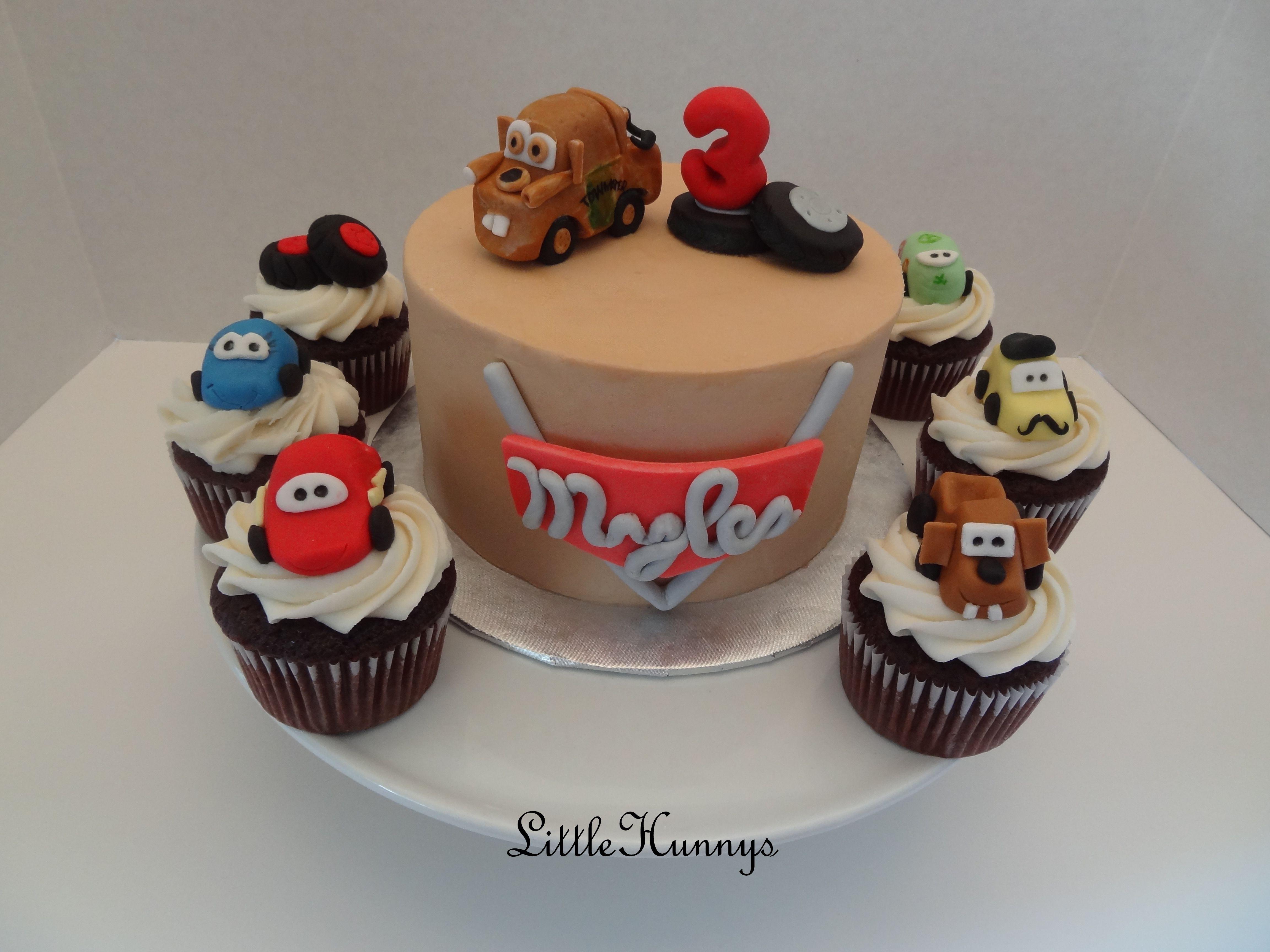 Disney Cars Birthday Cake: Disney Pixar Cars Smash Cake And Cupcakes!