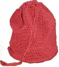 Big Easy Red Bag: Crochet I think this would be great for my daughter to carry her tennis balls to practice! :)