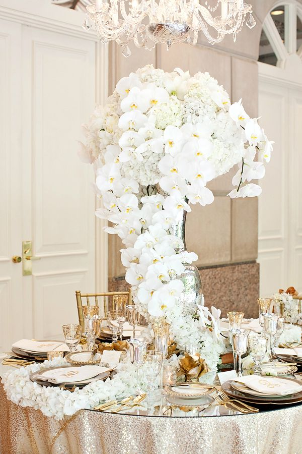 Wedding Tablescape Centerpiece Orchids Glamour N Luxury