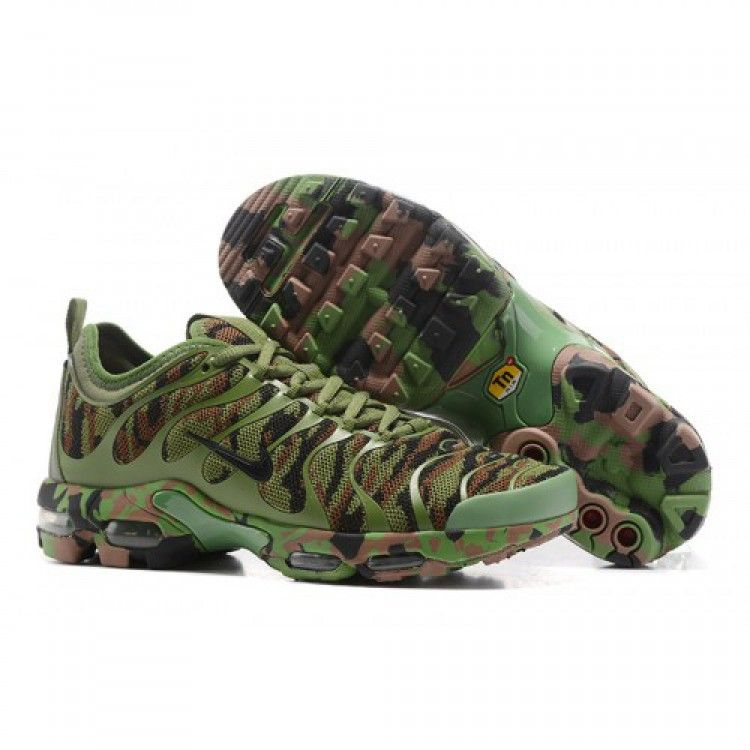 Nike Air Max Plu TN Ultra Army Green Camouflage   Air Max   Nike air ... 566a6f992f92