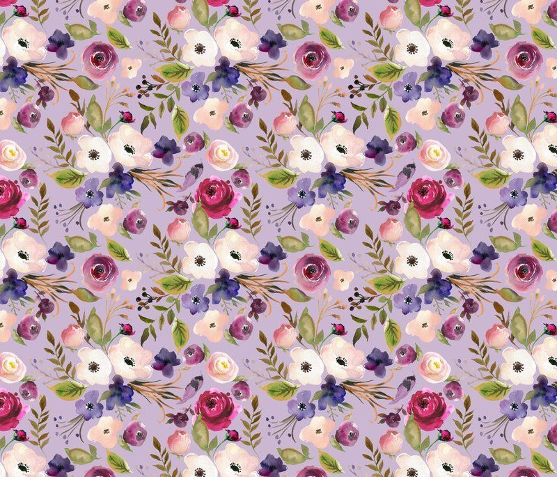 Lavender Floral Fabric By The Yard Quilting Cotton Organic Etsy In 2020 Lavender Floral Fabric Floral Fabric Childrens Fabric