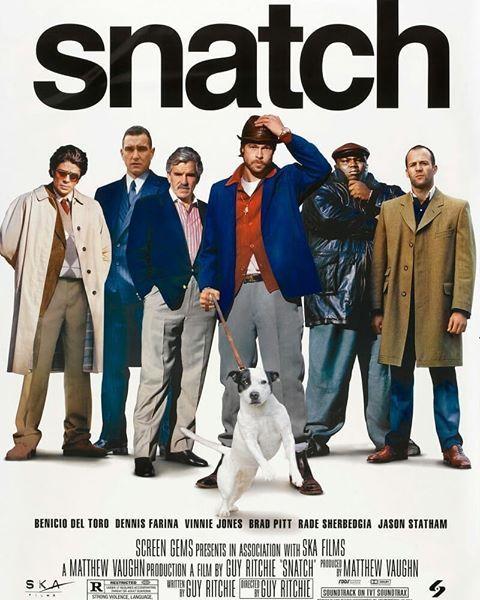 Snatch British Crime Comedy Film Poster Cinema Famous Star Photo Diamond Print