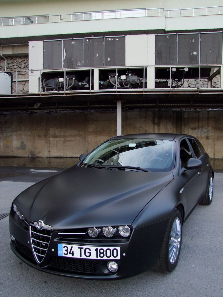 matte black alfa romeo 159 wheels of distinction pinterest. Black Bedroom Furniture Sets. Home Design Ideas
