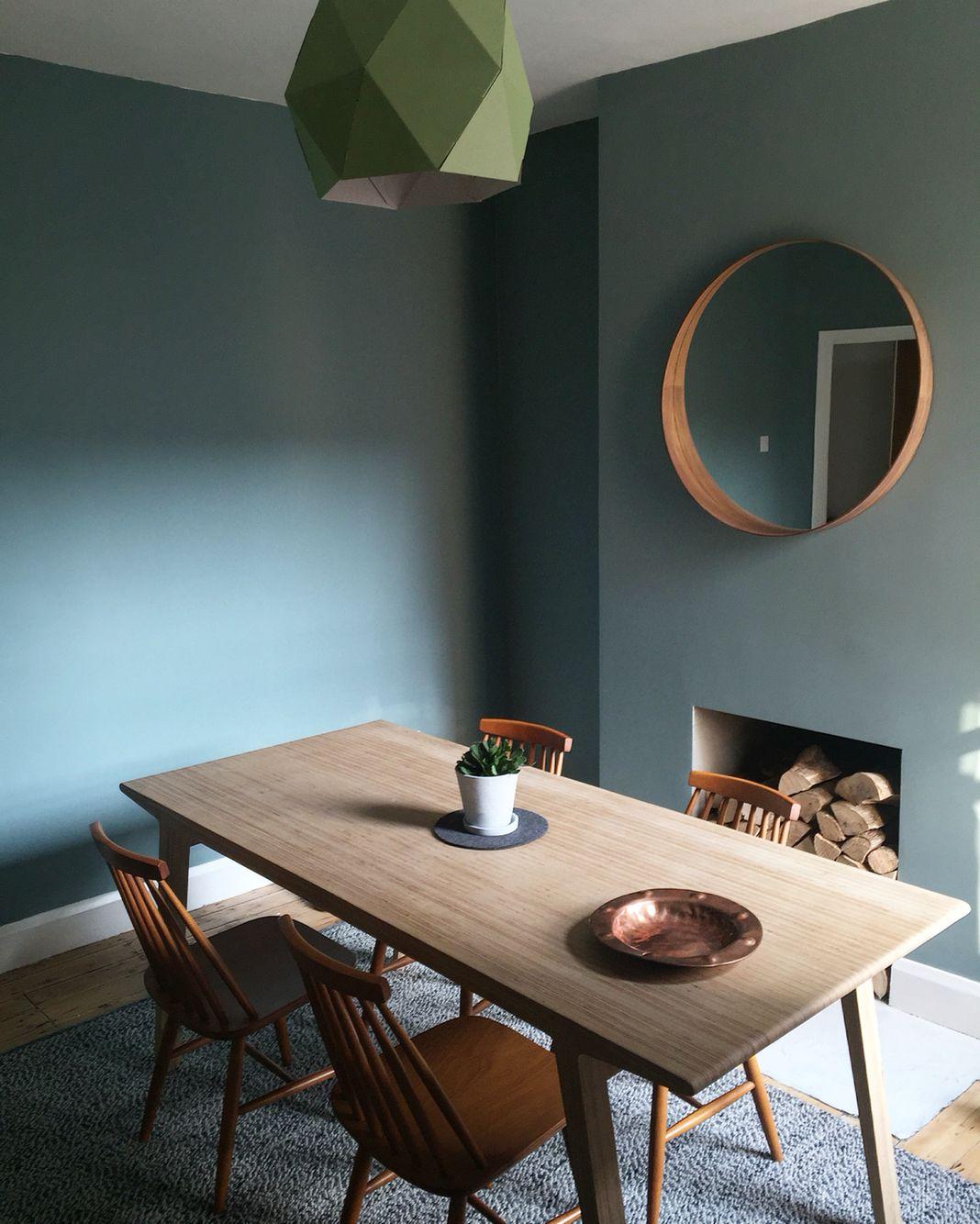 Dining Room Colour Oval Room Blue Table Unto This Last Farrowandball Diningroom