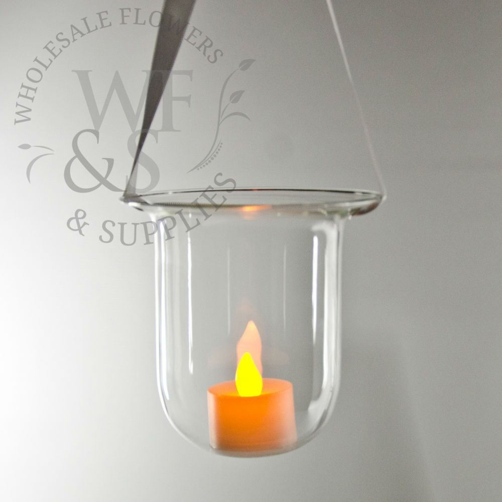 Bell hanging votive holder glass hanging votive holder wholesale