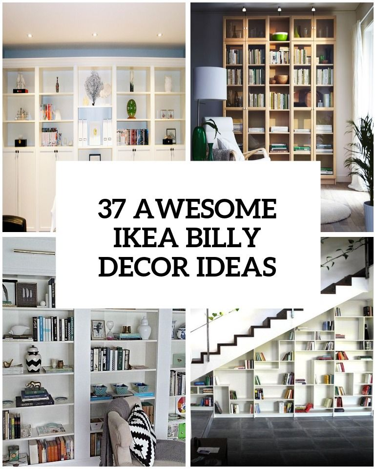 45 Awesome Ikea Billy Bookcases Ideas For Your Home Ikea Built In Ikea Bookcase Ikea Furniture Hacks