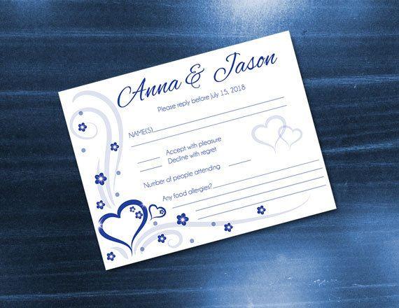 Diy Printable Wedding Rsvp Card Template Editable Ms Word Etsy Rsvp Wedding Cards Wedding Rsvp Wedding Printables