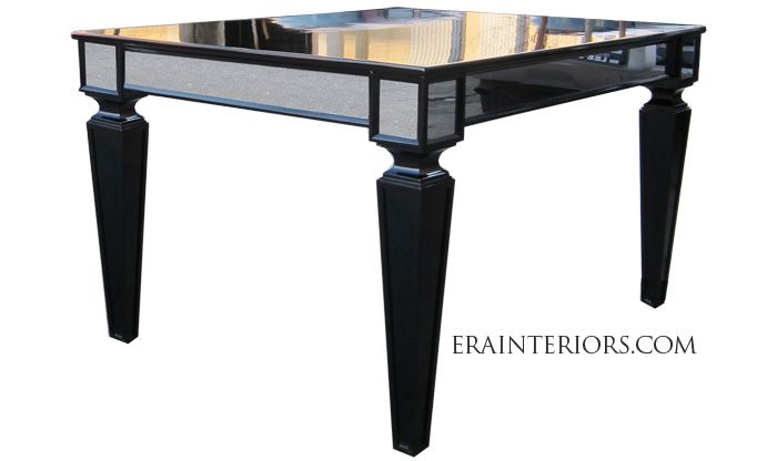 Captivating High Gloss Black Lacquer Center Table