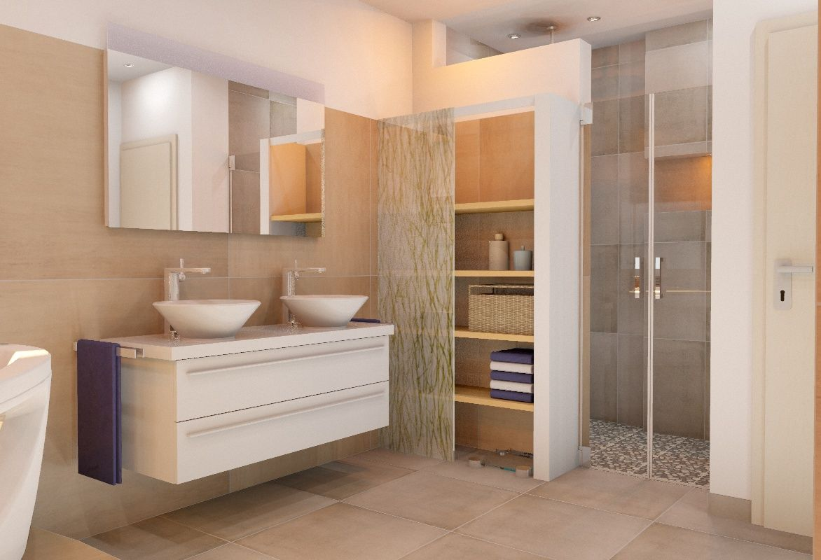 Dusche In Nische Neben Tur Badezimmer Renovieren Badezimmer Planen Bad Renovieren