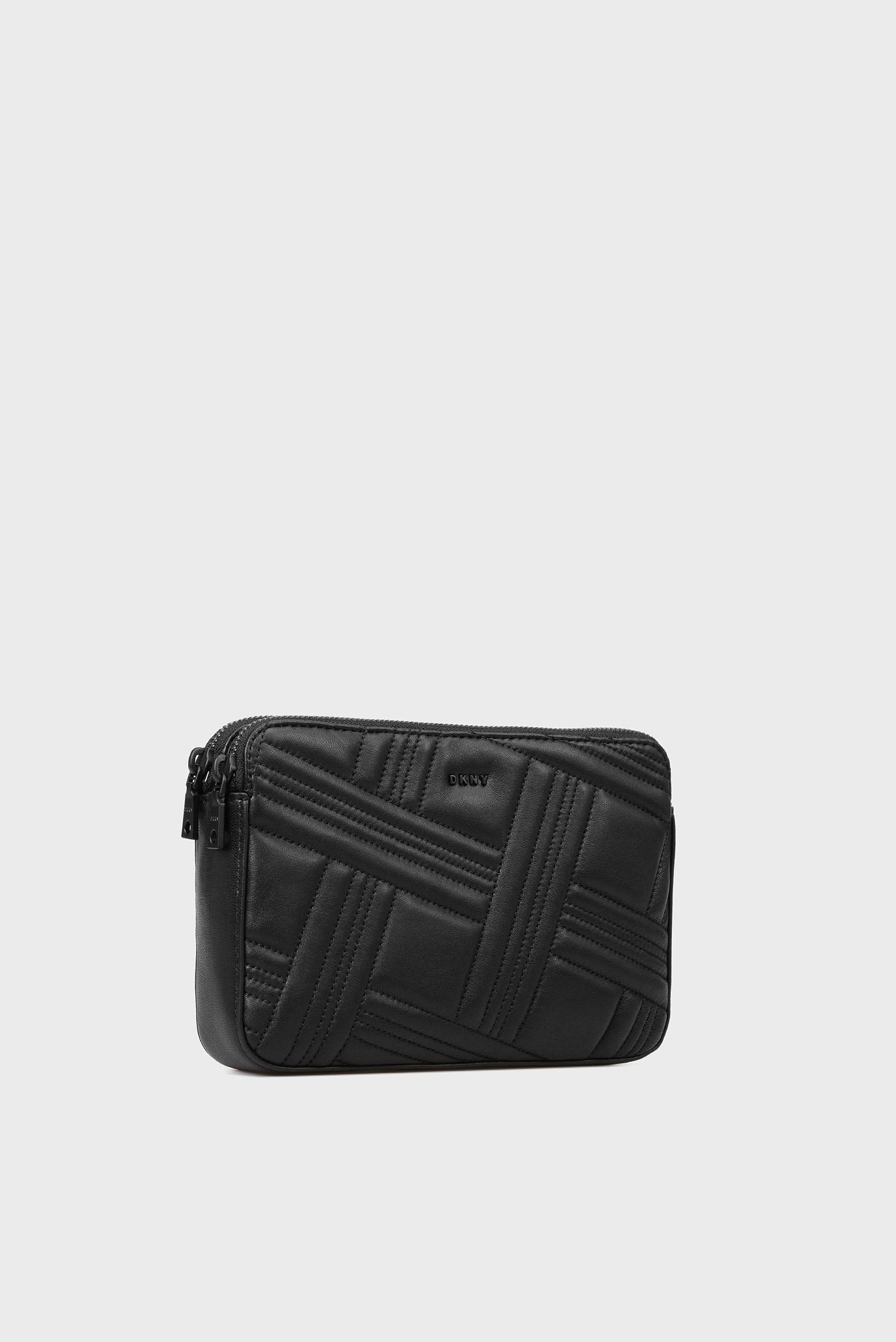 Купить Женская черная кожаная сумка через плечо DKNY DKNY R83EB639 – Киев efe21e4e5506c