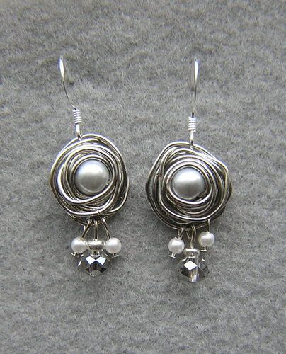 Beautiful Wire Wrap Pearl Earrings Very Easy To Do And Inexpensive