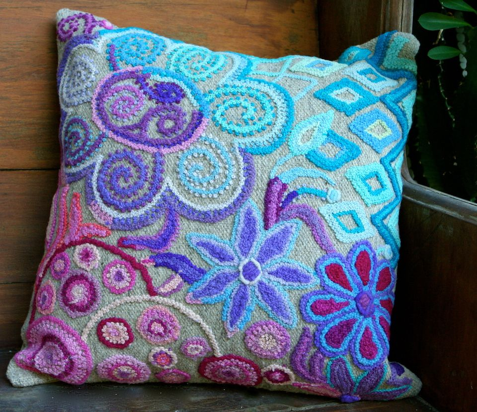 Ombre at its best handmade wool pillow cover create by artisans in