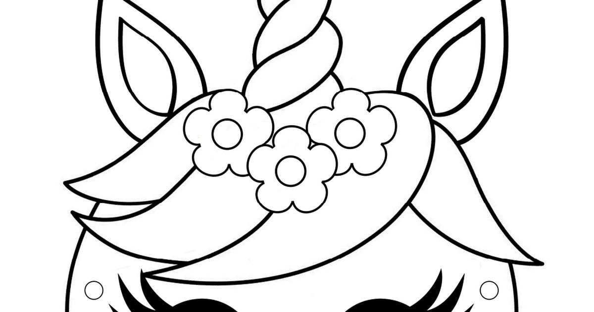 Unicorn Zeemeermin Kleurplaten.Eenhoorn Masker Kleurplaat Pdf Eenhoorn Kleurplaten En