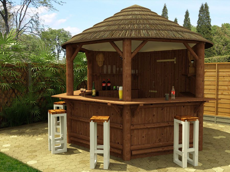 Dunster House Wahehe African Thatched Tiki Bar Outdoor Garden Patio Home In Furniture