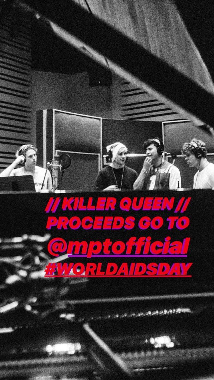 Queen Killer Queen 5sos 5 Seconds Of Summer Ashton Irwin Calum