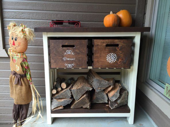 Lovely She Purchased 2 Inexpensive Walmart Crates And Look What She Did On Her  Porch!