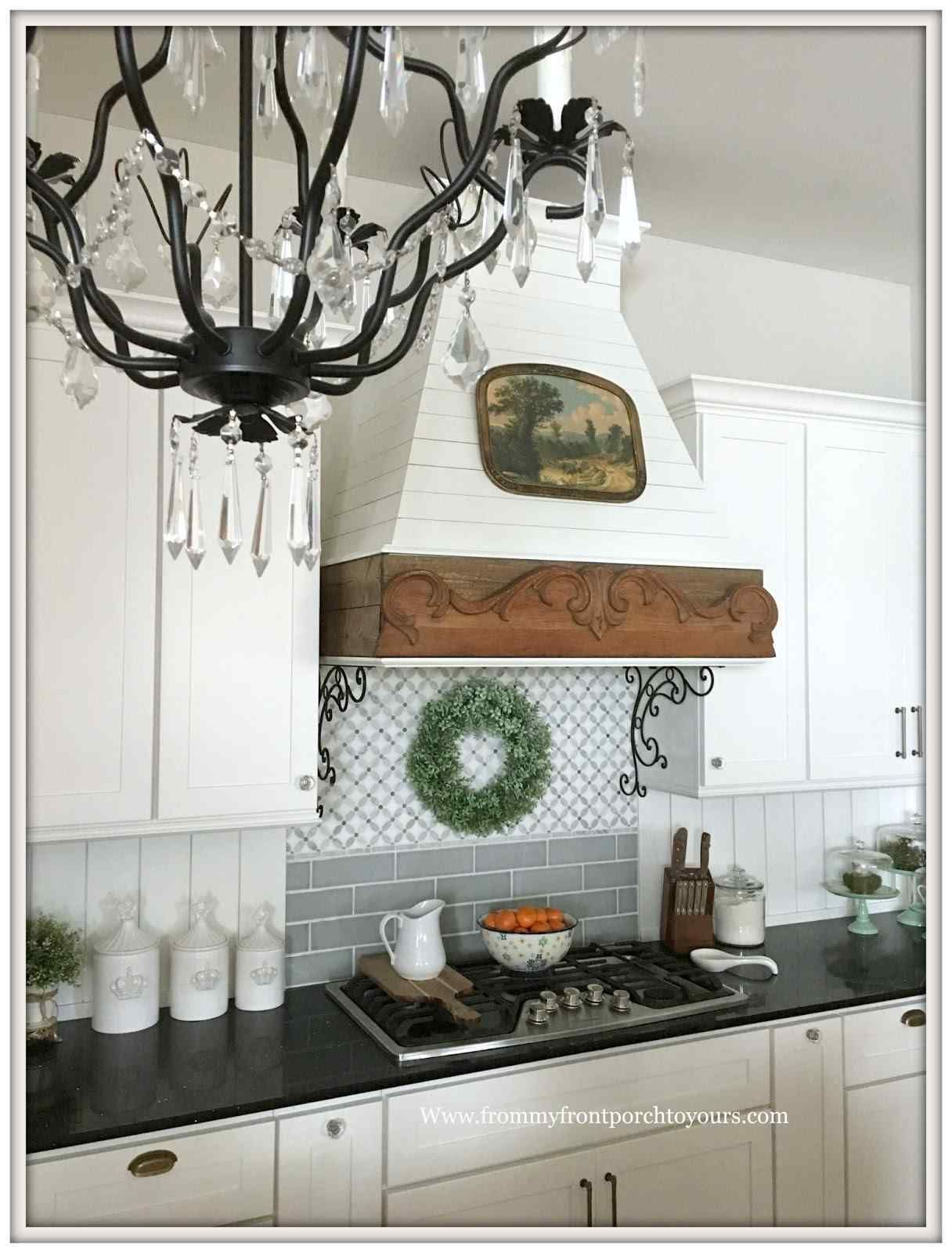example of inspirational range hood ideas farmhouse french