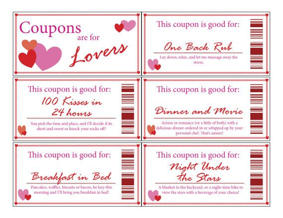 The romantic coupon book