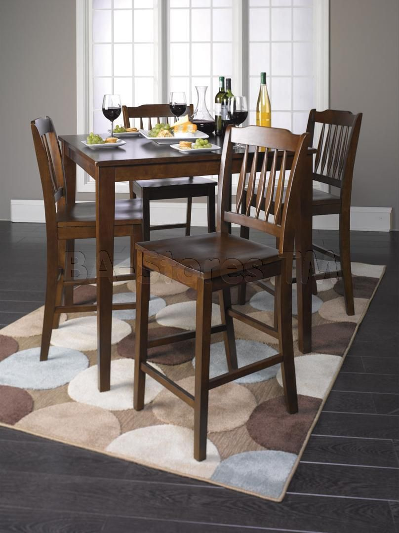 Tall Dining Table And Chairs Height Dining Set Table And 4