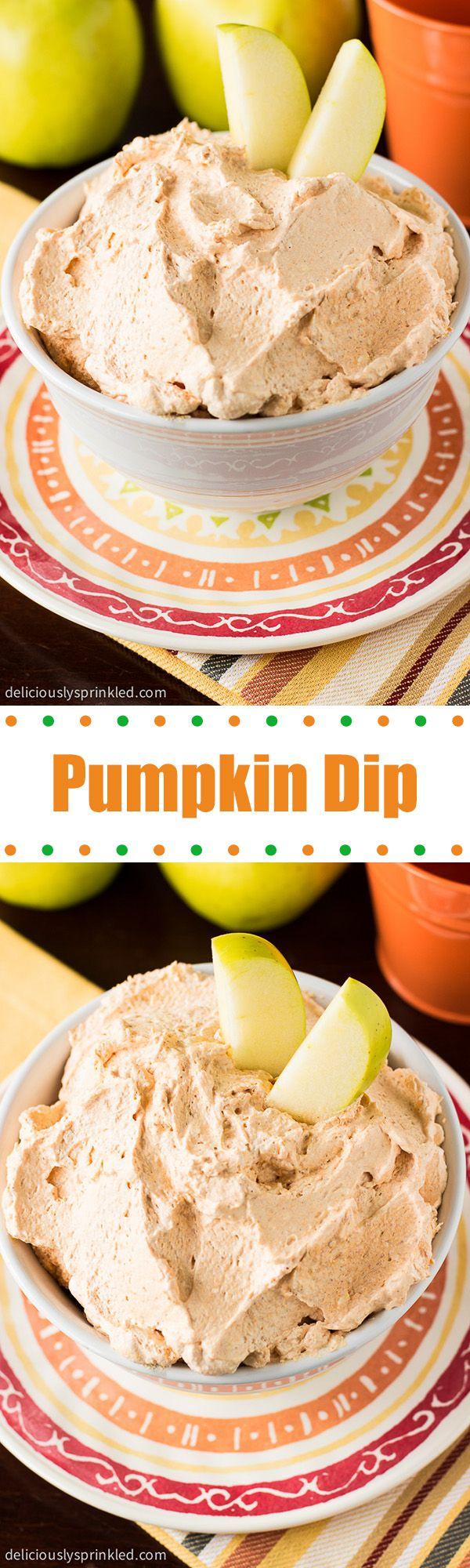 Pumpkin Dip- a super easy pumpkin dip, perfect for dipping fruit!