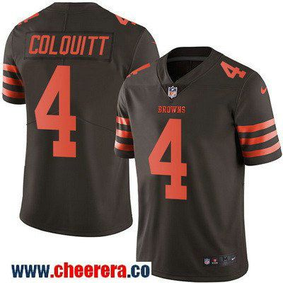 70b70f95e shopping mens cleveland browns 4 britton colquitt brown 2016 color rush  stitched nfl nike limited jersey