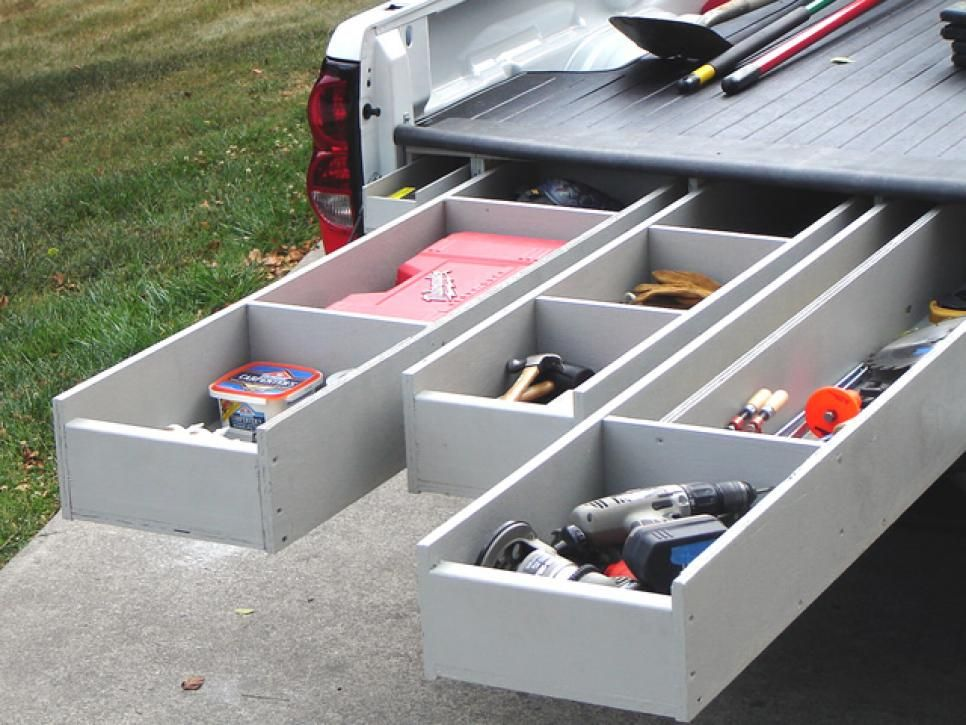 This Work Truck Was A Mobile Mess But A Pull Out Drawer System