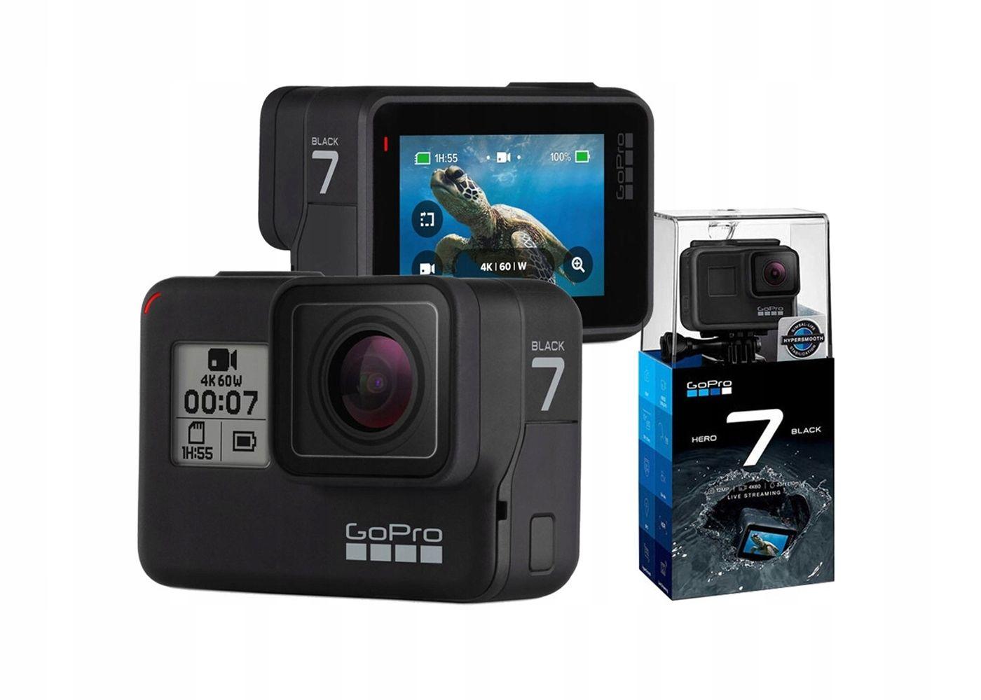 Kamera Sportowa Gopro Hero 7 Black 4k Wifi Go Pro 7575321565 Oficjalne Archiwum Allegro Gopro Gopro Hero Gopro Photography