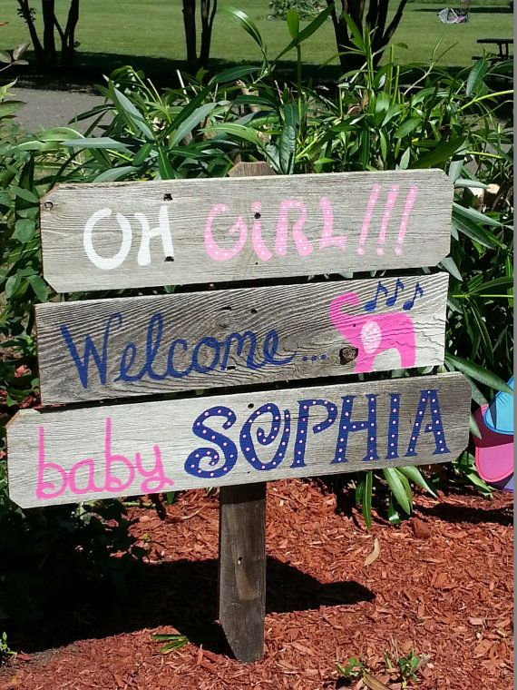 Sign Decorations Its A Girl Welcome Home Baby Yard Sign