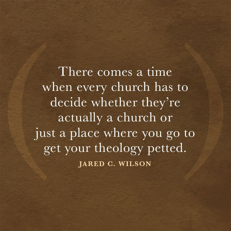 There comes a time when every church has to decide whether they're actually a church or