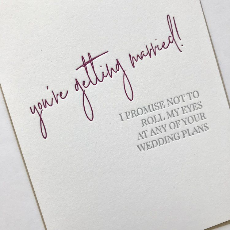 Engagement Congratulations Card Letterpress Engagement Congrats Card Engagement Congrats