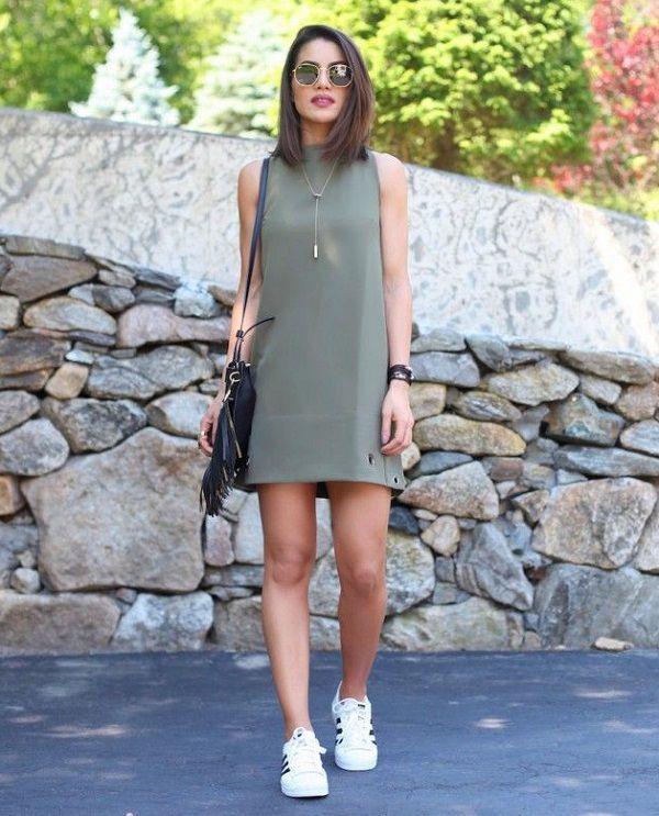 super popular ee79c fcf39 vestido-con-zapatillas | moda actual en 2019 | Vestidos ...
