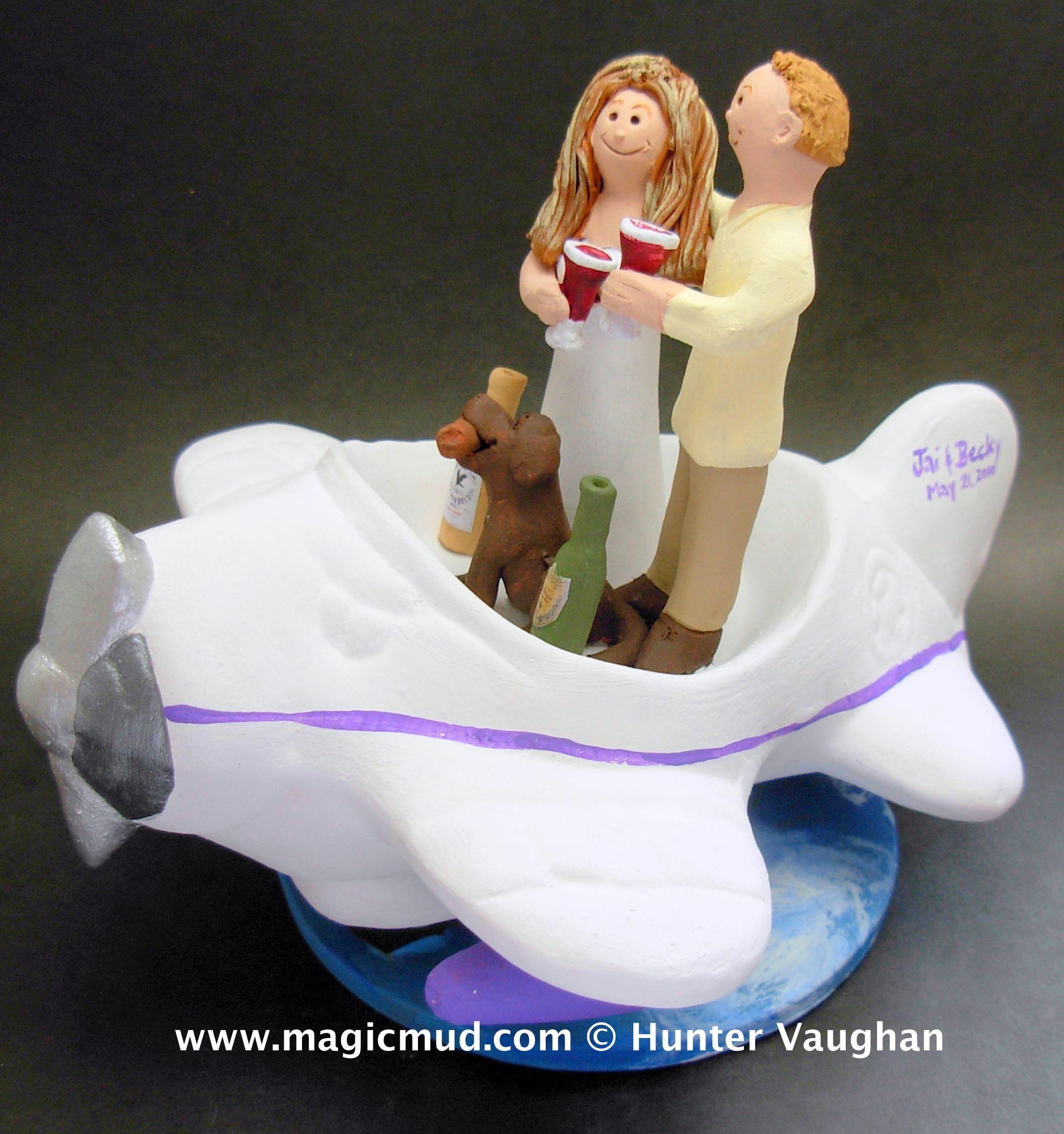 Wedding Cake Recipe Custom History: Custom Made Airplane Pilots Wedding Cake Toppers By Http