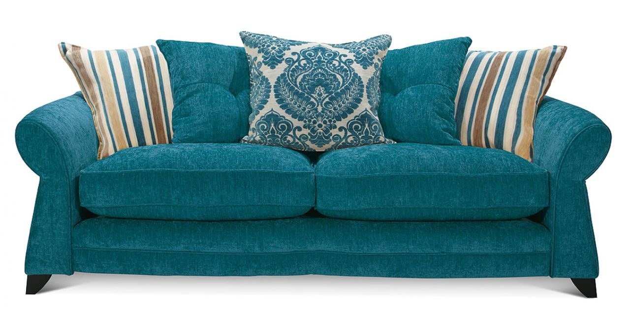Gorgeous teal sofa Living Room Pinterest