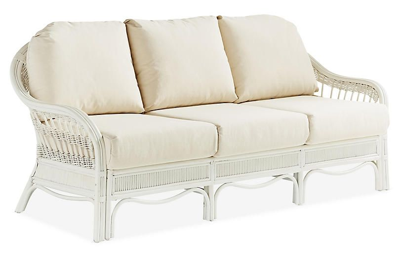 Admirable Bermuda Rattan Sofa White South Sea Rattan Products In Machost Co Dining Chair Design Ideas Machostcouk