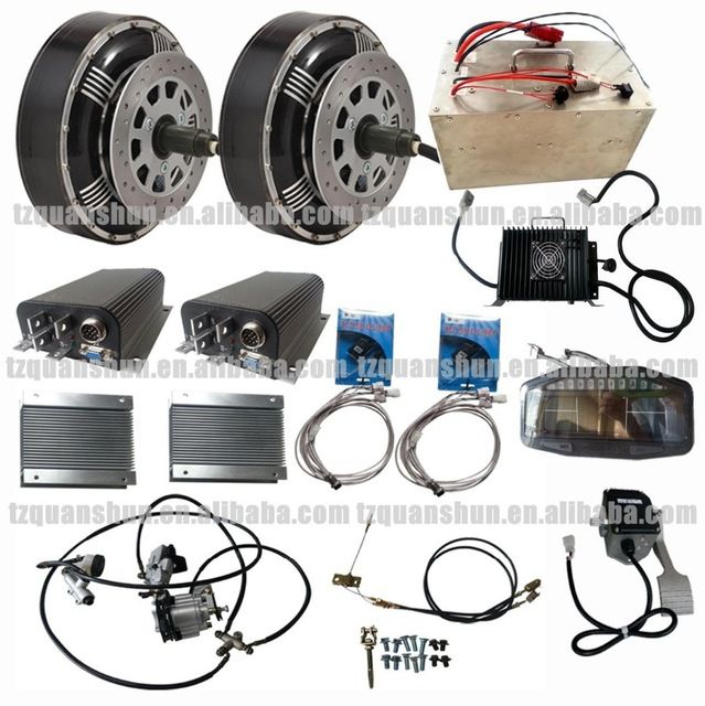 Source Qs Dual 8kw 8 Hub Motor Electric Hybrid Car Conversion Kit Kits On