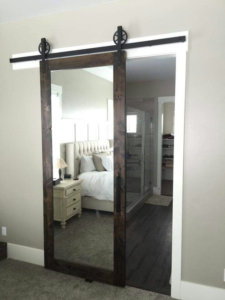 LOVE this mirrored barn door for a master bedroom! | Bedroom ...