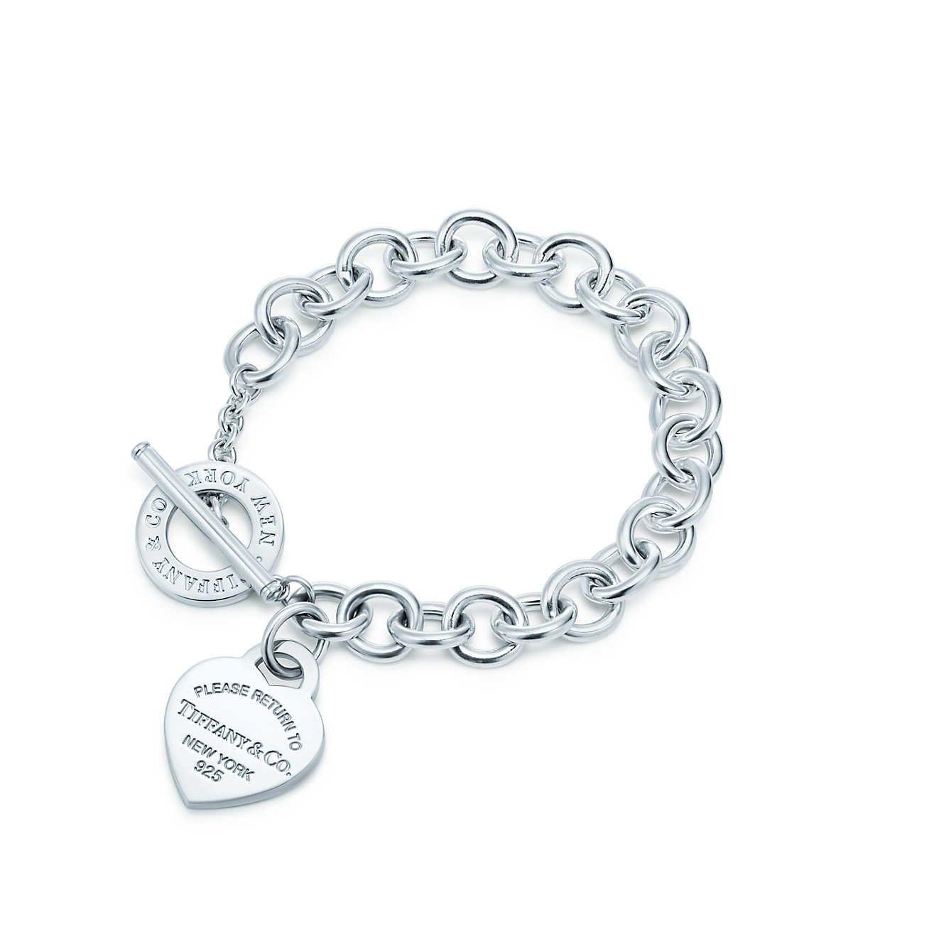 Heart Tag Toggle Bracelet